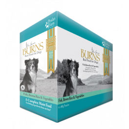 Burns Fish, Brown Rice and Vegetables Wet Dog Food Pouches 6x400g