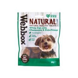 Webbox Natural White Fish with Chamomile and Elderflower Dog Treats 60g
