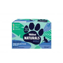 Webbox Premium Natural Adult Cat Food Fish Selection in Jelly 12x100g