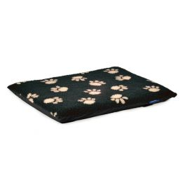 Ancol Paw Print Flat Pad Dog Bed Black