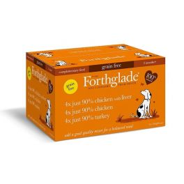 Forthglade Just Grain Free Poultry Variety Wet Dog Food Pouches 12 x 395g