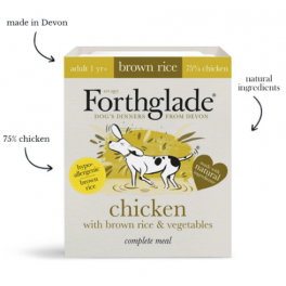 Forthglade Senior Chicken & Brown Rice Wet Dog Food 395g