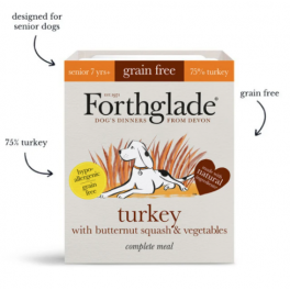 Forthglade Senior Turkey & Butternut Squash Grain Free Wet Dog Food 395g