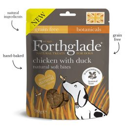 Forthglade Grain Free Soft Bites Chicken with Duck Dog Treats 90g
