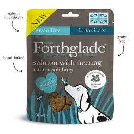 Forthglade Grain Free Soft Bites Salmon with Herring Dog Treats 90g
