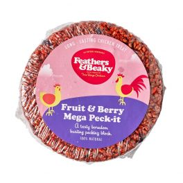 Feathers & Beaky Fruit & Berry Mega Peck-it Poultry Treat 1.2kg