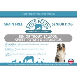 Foss Feeds Sample - Grain Free Trout Senior Dog Food 100g