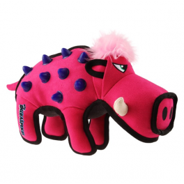 GiGwi Duraspikes Extra Durable Pink Wild Boar Dog Toy