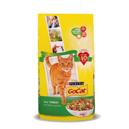 Go-Cat Adult Cat Food with Turkey & Vegetables 2kg