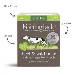 Forthglade Gourmet Beef & Wild Boar With Veg & Apple 395g