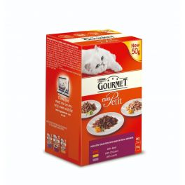 Purina Gourmet Mon Petit Meat Selection Wet Cat Food Pouches 6x50g
