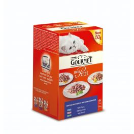 Purina Gourmet Mon Petit Fish Selection Wet Cat Food Pouches 6x50g