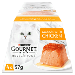 Gourmet Revelations Mousse with Chicken Wet Cat Food 4x57g