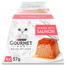 Gourmet Revelations Mousse with Salmon Wet Cat Food 4x57g