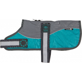 Outhwaite Reflective Grey/Teal Harness Dog Coat