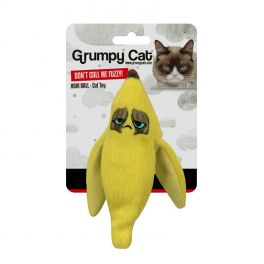 Grumpy Cat Banana Peel Crinkle Cat Toy