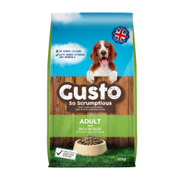 Gusto Adult Dog Food with Beef 12kg