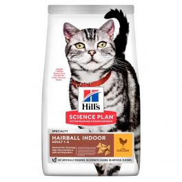 Hill's Science Plan Feline Hairball Indoor Adult Cat Food with Chicken 1.5kg