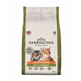 Harringtons Chicken & Rice Complete Adult Cat Food 2kg