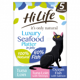 HiLife Luxury Seafood Platter in Jelly Cat Food 5x50g