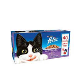 Felix Mixed Selection in Jelly Cat Food 40x100g