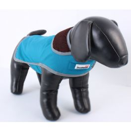 Doodlebone Blue Tweedy Reversible Dog Coat
