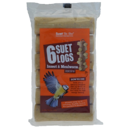 Suet To Go 6 Suet Logs Insect & Mealworm Wild Bird Treats