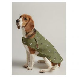 Joules Olive Bee Print Water Resistant Rain Jacket Dog Coat