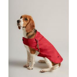 Joules Red Water Resistant Rain Jacket Dog Coat