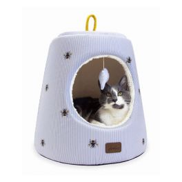 Joules Ticking Bee Hideaway Cat Bed