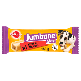 Pedigree Jumbone Maxi Dog Treats with Beef 1 Pack 210g