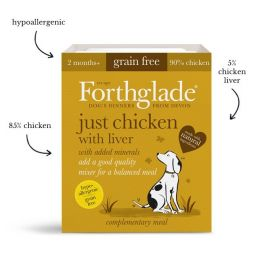 Forthglade Just Chicken with Liver Grain Free Wet Dog Food 395g