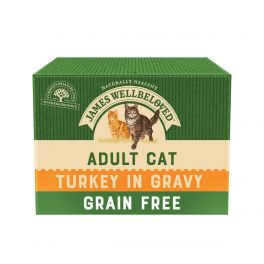 James Wellbeloved Adult Cat Food Turkey Pouches 12x85g