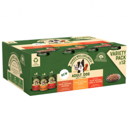 James Wellbeloved Grain Free Turkey, Lamb & Chicken in Loaf Adult Dog Food Cans 12x400g