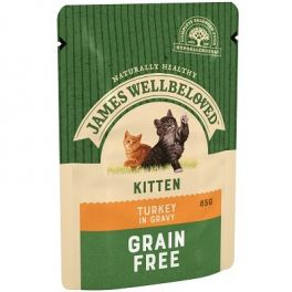 James Wellbeloved Kitten Food Wet Pouches with Turkey 12x85g
