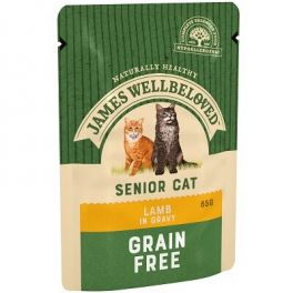 James Wellbeloved Senior Cat Food Wet Pouches with Lamb 12x85g