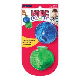 KONG Lock-It Large 3 Pack Treat Dispenser Dog Toy