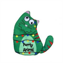 KONG Christmas Holiday Refillables Purrty Animal Cat Toy