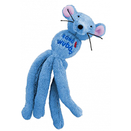 KONG Wubba Mouse Cat Toy in Blue