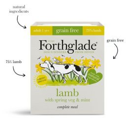 Forthglade Grain Free Wet Adult Dog Food with Lamb, Spring Veg & Mint 395g