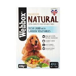 Webbox Natural Lamb and Veg Wet Dog Food Pouch 400g