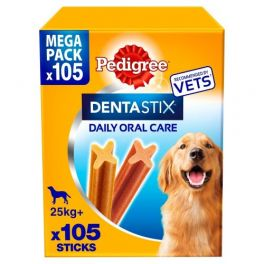 Pedigree Dentastix  Dog Treats 105 Sticks For Large Dogs 25kg+