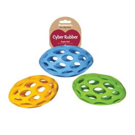 Rosewood Cyber Rubber Lattice Rugby Ball Dog Toy