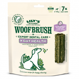 Lily's Kitchen Small Woofbrush Gut Health Dental Chews Dog Treats 7 Pack 154g