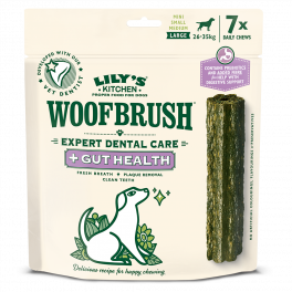 Lily's Kitchen Large Woofbrush Gut Health Dental Chews Dog Treats 7 Pack 329g