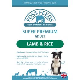 Foss Feeds Sample - Super Premium Lamb with Rice Dog Food 100g