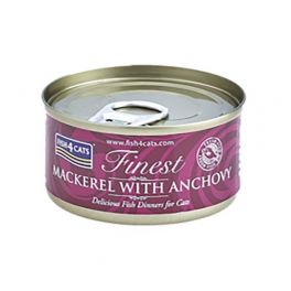 Fish4Cats Finest Mackerel with Anchovy Cat Food 70g