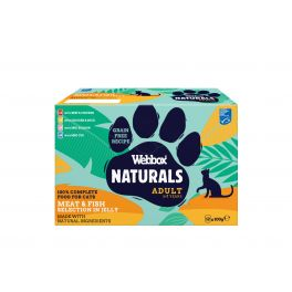 Webbox Premium Natural Adult Cat Food Mixed Selection in Jelly Pouches 12x100g
