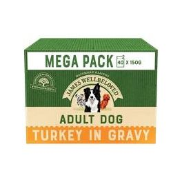 James Wellbeloved Turkey & Rice Adult Dog Food Pouches x40