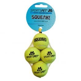 Sportspet Mini Squeak 4 Ball Pack Dog Toy